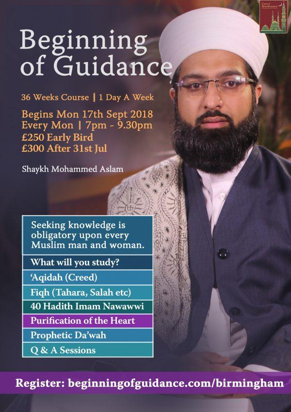Birmingham Beginning of guidance
